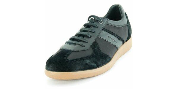 Pánske kožené čierne tenisky Geox