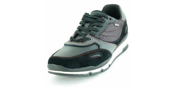Pánske športové topánky Geox čierno-šedé