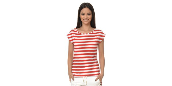Dámske červeno pruhované tričko Dia Vynne