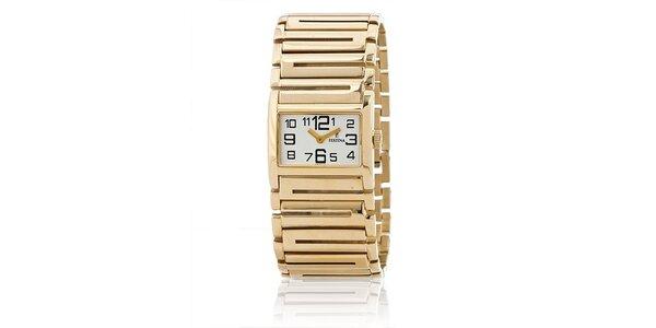Dámske zlaté náramkové hodinky Festina