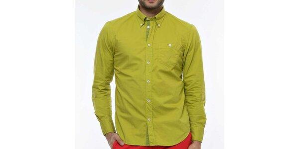 Pánska zelenožltá košeľa Nautica