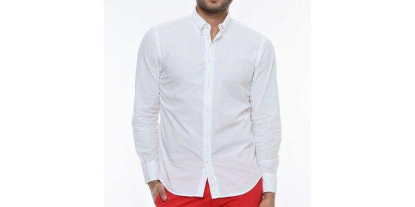 Pánska biela košeľa s dlhým rukávom Nautica