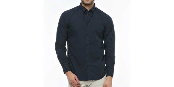 Pánska tmavo modrá košeľa s dlhým rukávom Nautica