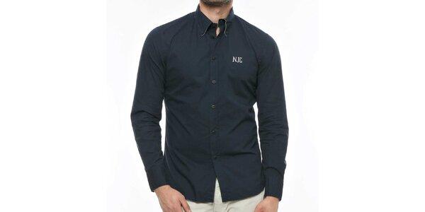 Pánska tmavo modrá košeľa s logom Nautica