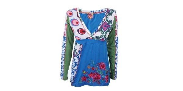 Dámsky farebný top s dlhým rukávom Dislay DY Design
