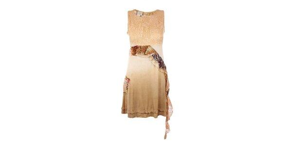Dámske béžové šaty Dislay DY Design