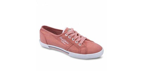Dámske svetlo ružové tenisky Pepe Jeans