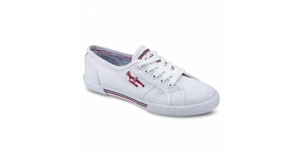 Dámske biele tenisky Pepe Jeans