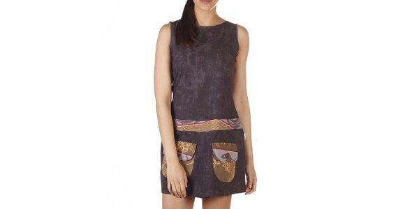 Dámske hnedé šaty s vreckami Savage Culture