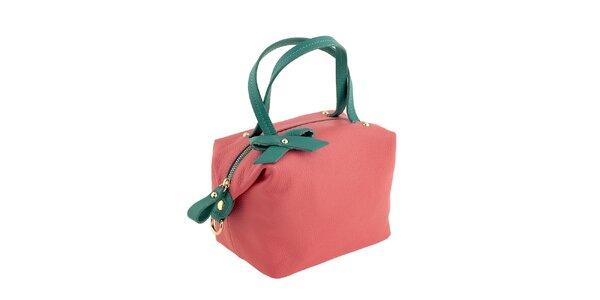 Dámska korálovo-zelená kabelka Valentina Italy