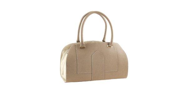 Dámska béžová kufríková kabelka Valentina Italy