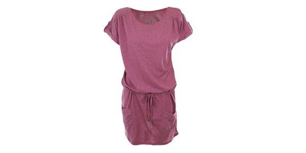 Dámske fuchsiovo ružové šaty Timeout