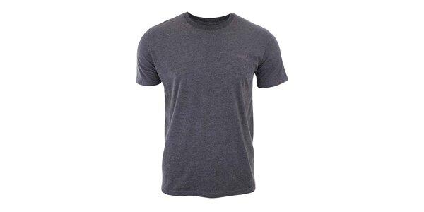 Pánske šedé žihané tričko Timeout