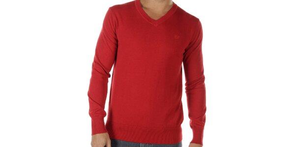Pánsky červený véčkový sveter Bendorff
