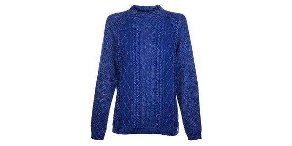 Dámsky tmavo modrý sveter Hope s metalickým leskom