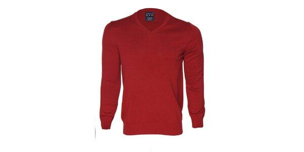 Pánsky červený sveter s logom Giorgio di Mare