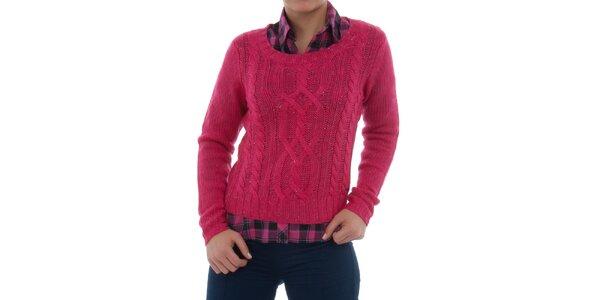 Dámsky ružový melírovaný sveter Ecko Red