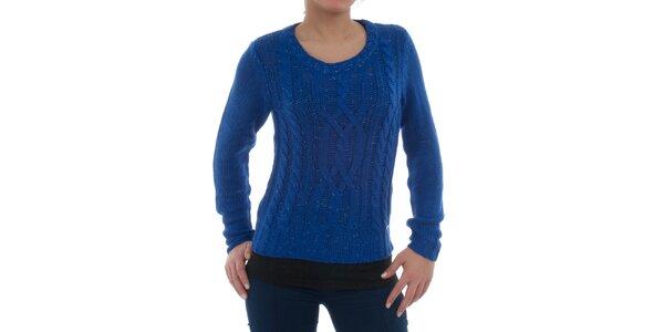 Dámsky modrý melírovaný sveter Ecko Red