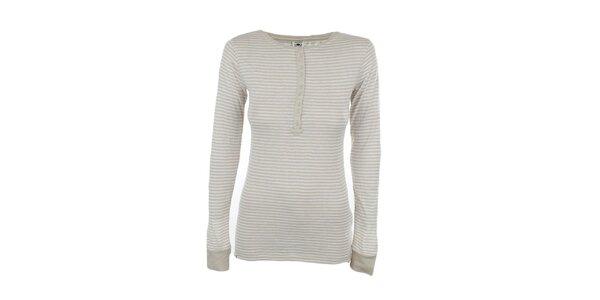 Dámske béžovo-biele pruhované tričko Timeout
