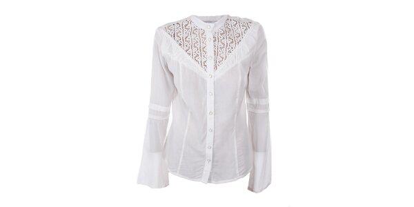 Dámska biela košeľa s čipkou Angels Never Die