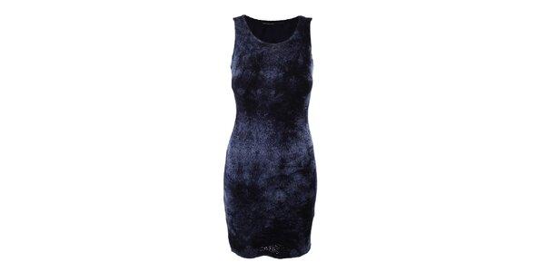 Dámske tmavo modré perforované šaty Angels Never Die