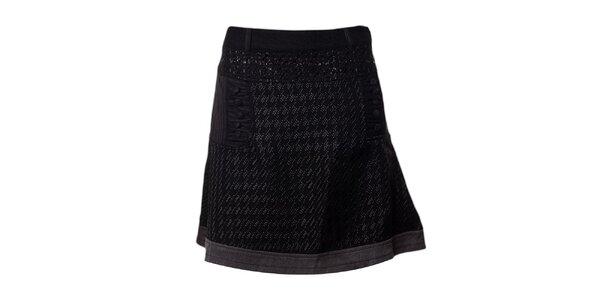 Dámska čierna krátka sukňa Desigual