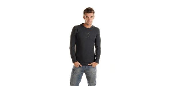 Pánske tmavo šedé tričko Gianfranco Ferré s dlhým rukávom