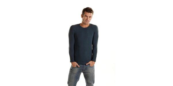 Pánske tmavo modré podvliekacie tričko Gianfranco Ferré s dlhým rukávom