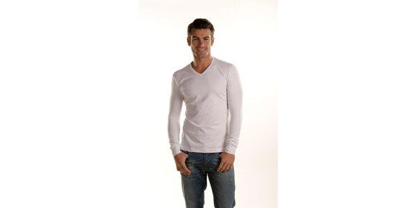 Pánske biele tričko Gianfranco Ferré s dlhým rukávom