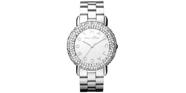 Dámske ocelové hodinky so zirkónmi Marc Jacobs