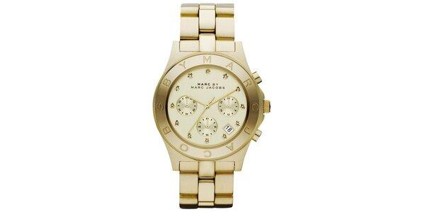 Dámske pozlátené ocelové hodinky Marc Jacobs