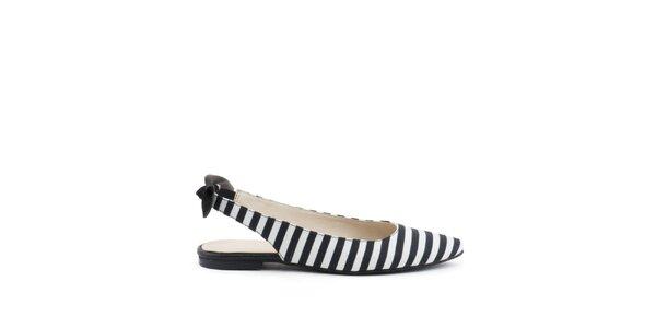 Dámske čierno-biele topánočky MISU