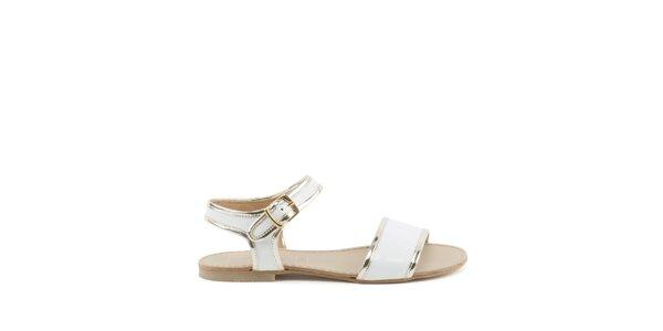 Dámske biele sandálky MISU