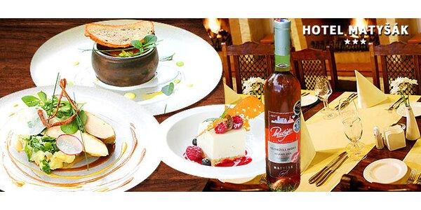 Luxusné 3 chodové menu pre 2 a fľaša vína