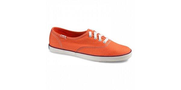 Dámske plátené oranžové tenisky Keds