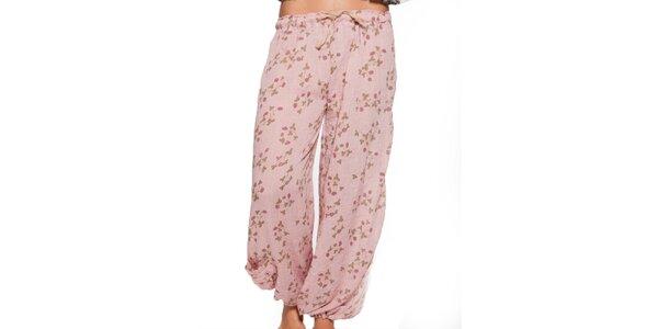Dámske svetlo ružové voľné nohavice Ian Mosh