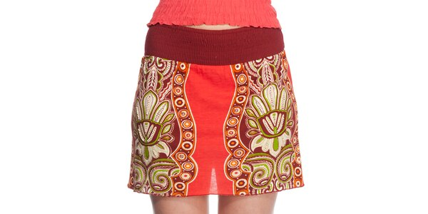 Dámska krátka červená sukňa Peace&Love