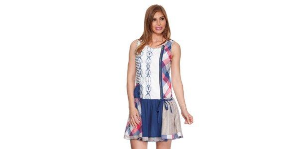 Dámske farebné šaty bez rukávov Peace&Love