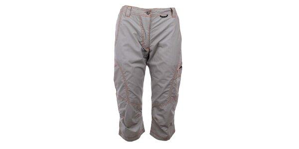 Dámske šedé capri nohavice s prešívaním Hannah