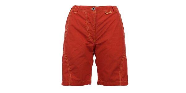 Dámske oranžovočervené šortky Hannah