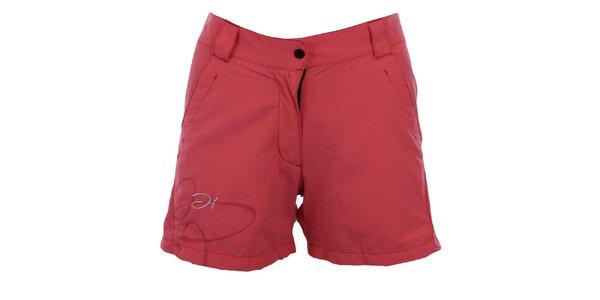 Dámske červenoružové športové šortky Hannah