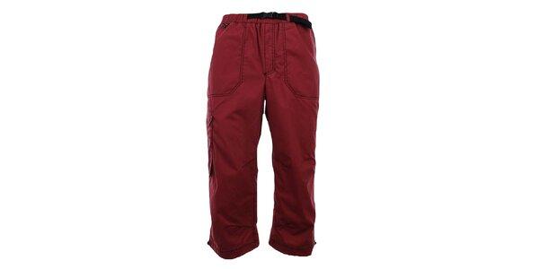 Pánske tmavo červené 3/4 nohavice Hannah