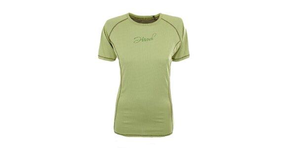 Dámske funkčné tričko v limetkovej farbe Hannah