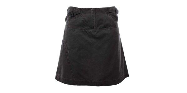 Dámska tmavo šedá bavlnená sukňa Hannah
