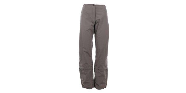Dámske hnedošedé funkčné nohavice Hannah