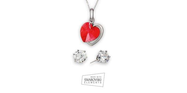 Dámska sada šperkov Swarovski Elements - kamienkové náušnice a náhrdelník…