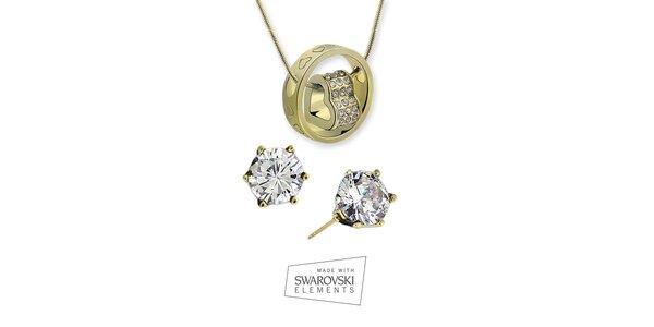 Dámska sada šperkov s kamienkami Swarovski Elements - jemné náušnice a…