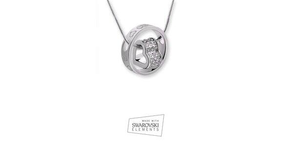 Dámsky náhrdelník s dvojitým príveskom Swarovski Elements