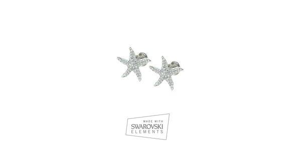 Dámske hviezdicové náušnice s kamienkami Swarovski Elements