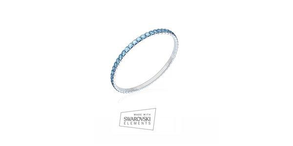 Dámsky náramok zdobený modrými kamienkami Swarovski Elements
